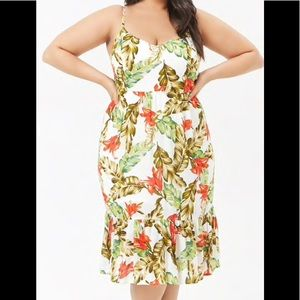 Dresses & Skirts - New Forever 21 Floral Spaghetti Strap Dress